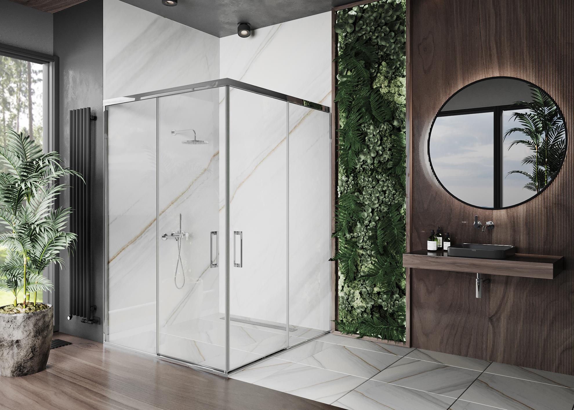 Душевая перегородка с раздвижными дверями Premium Casa d'acqua-105